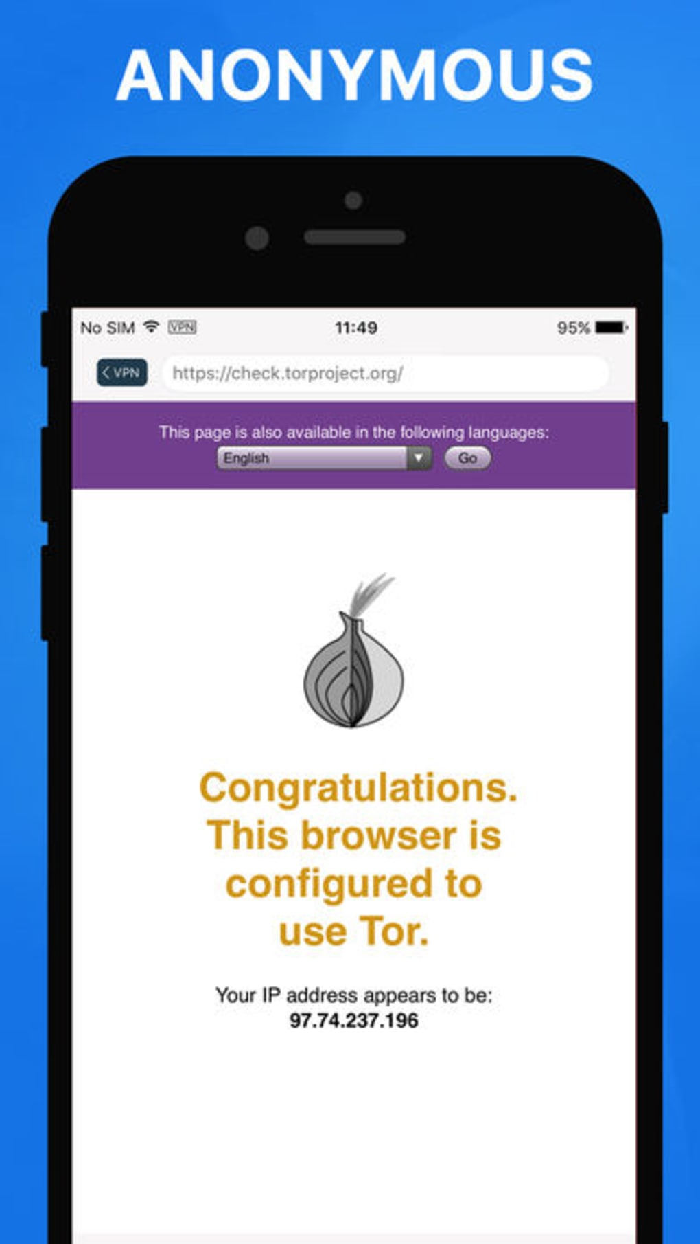 Onion TOR Browser + VPN for iPhone - Download