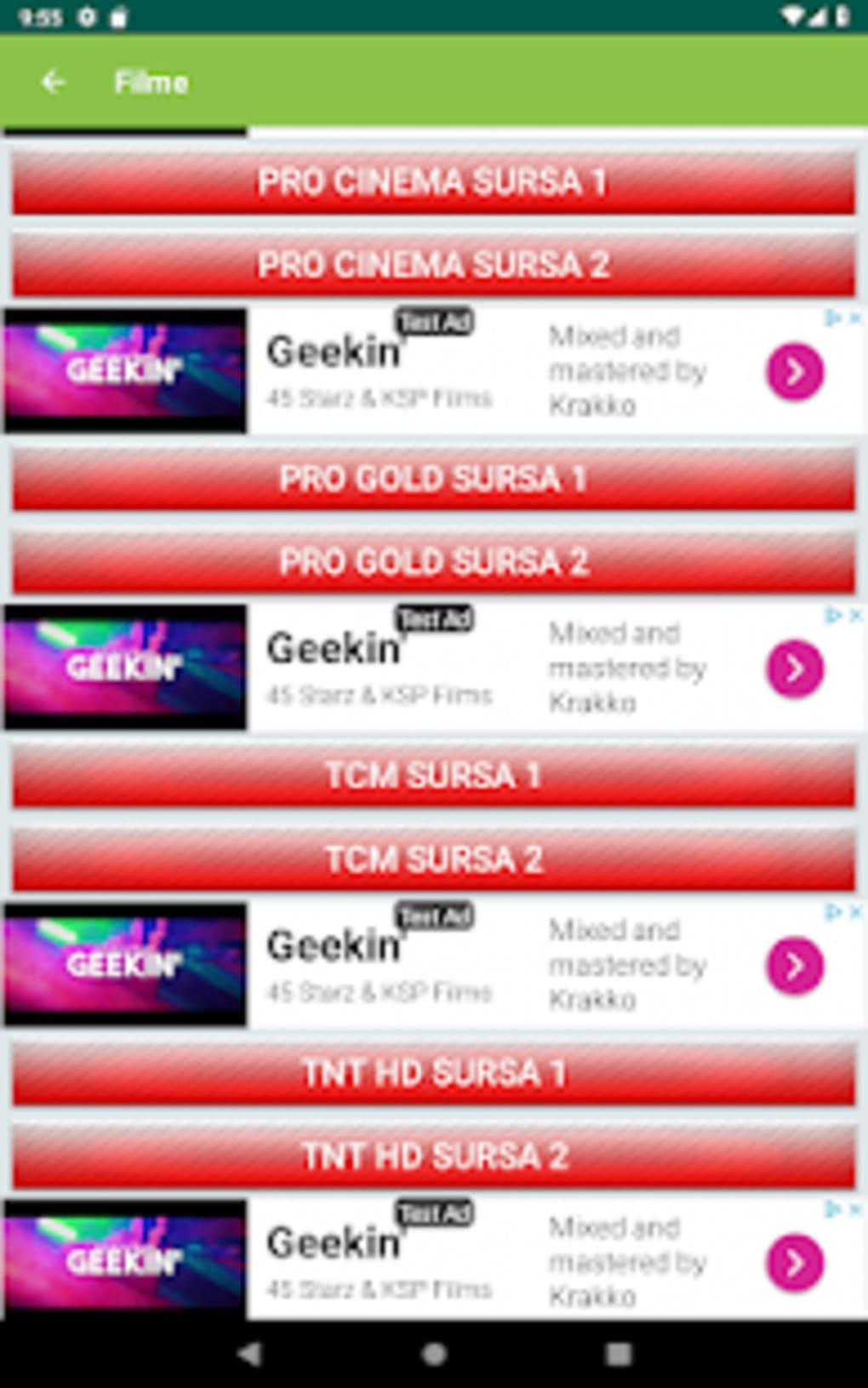 TV Romania Online Sopcast Acestream HTTP Streams for Android