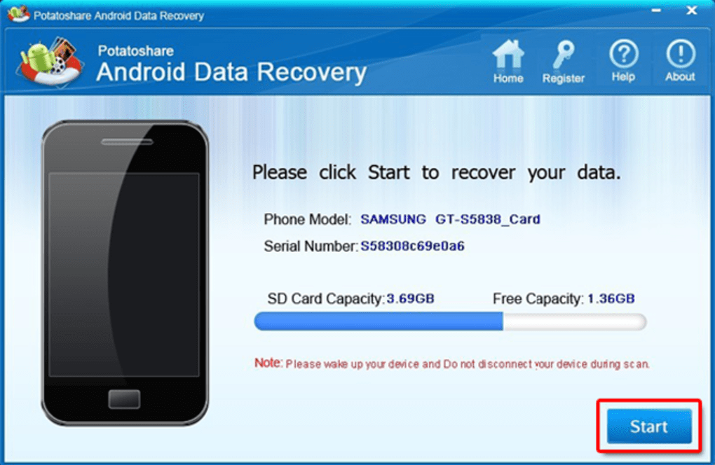 Potatoshare Android Data Recovery - Download
