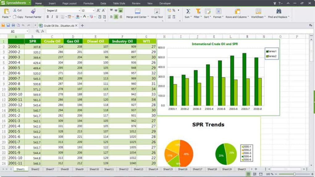 kingsoft spreadsheets professional 2012