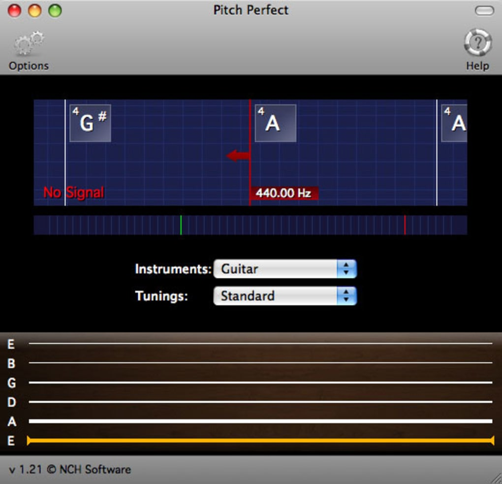 PitchPerfect Guitar Tuner for Mac - Download