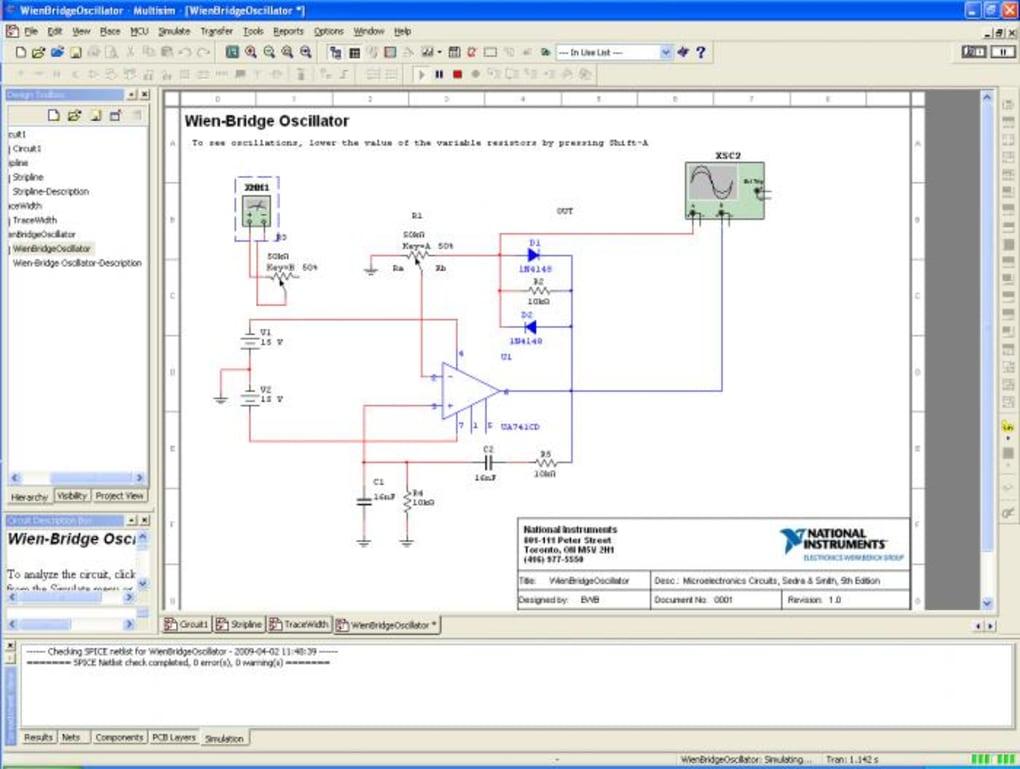 Multisim Download - Best electronics circuit simulator