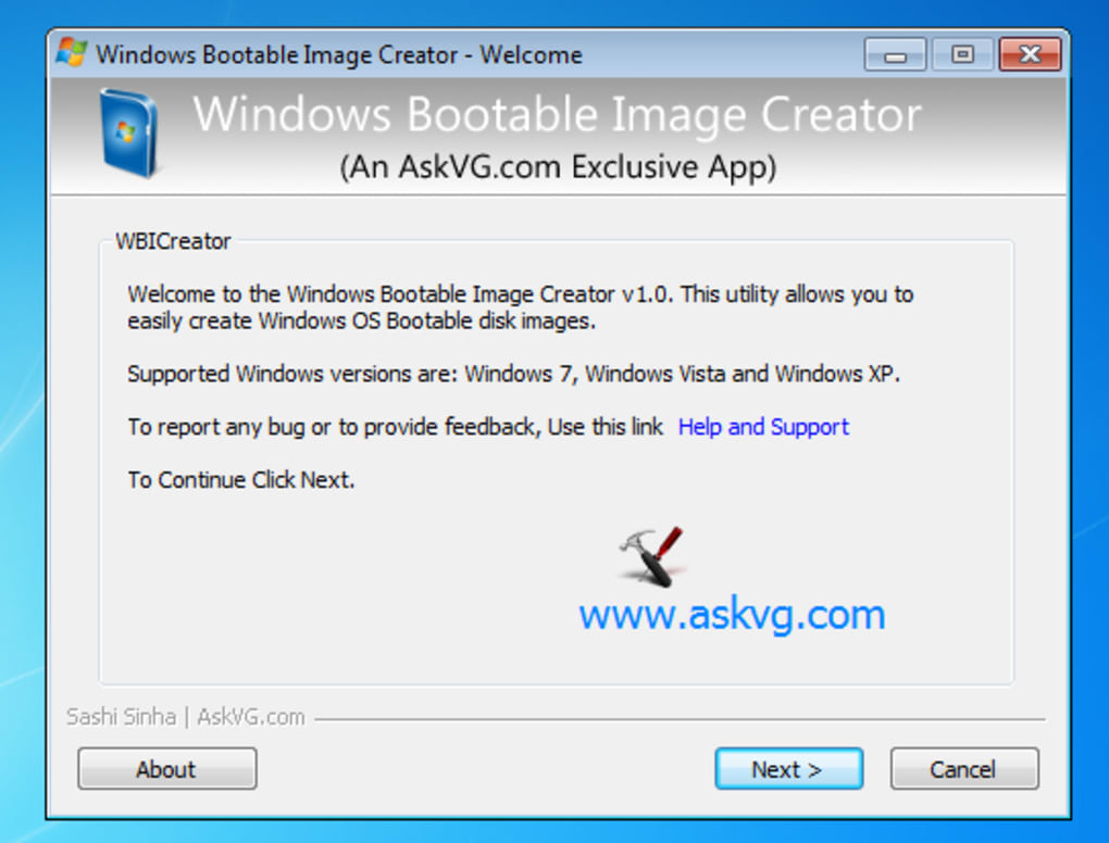 Windows Bootable Image Creator (Windows) - Download
