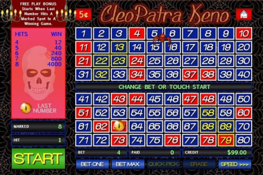 Cleopatra Keno for Android - Download