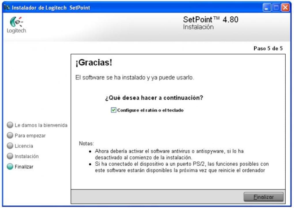 gratuitement logitech setpoint pour windows