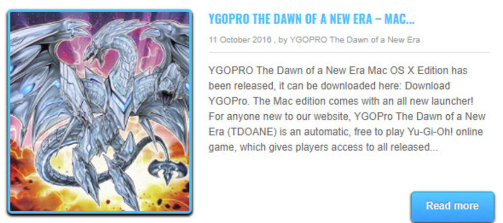 YGOPRO The Dawn of a New Era for Mac - Download