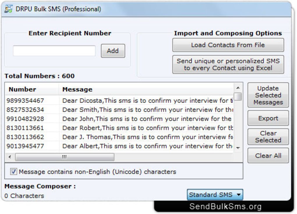Send Bulk SMS - Download