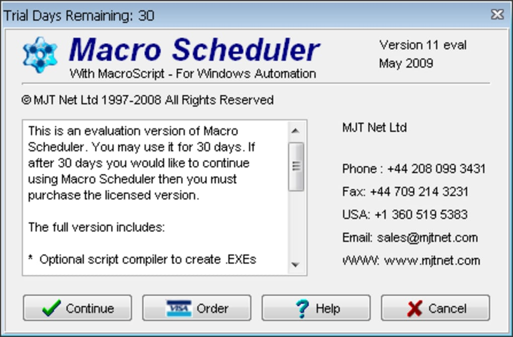 Macro Scheduler - Download
