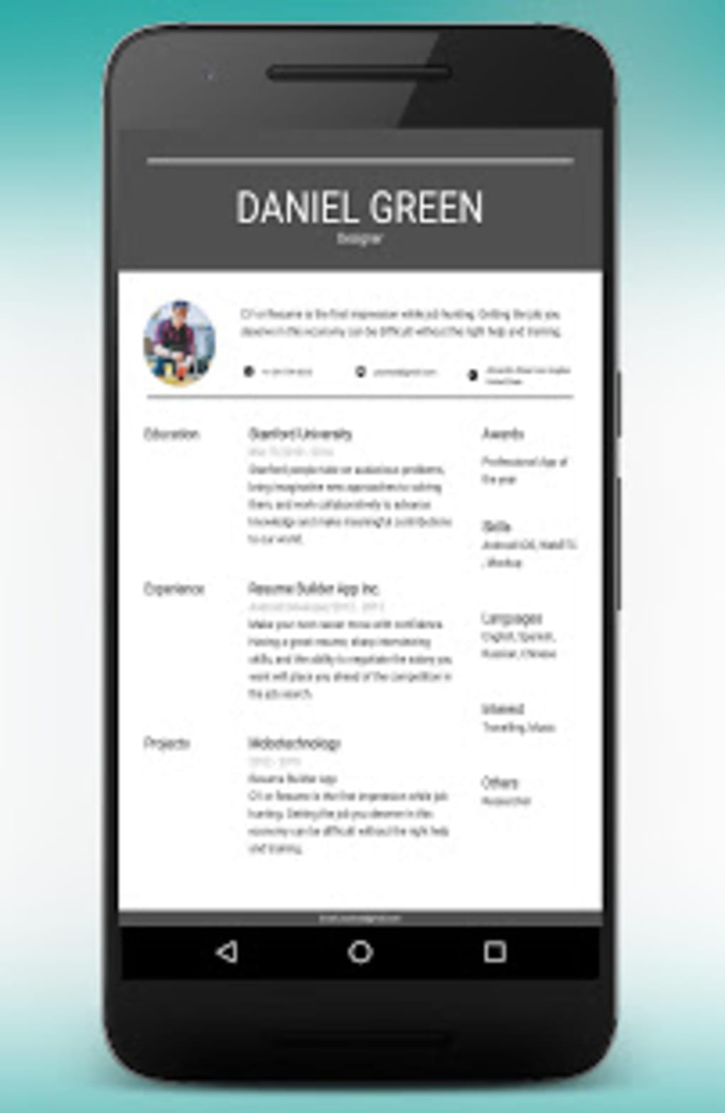 cv maker resume builder pdf template format editor apk for android