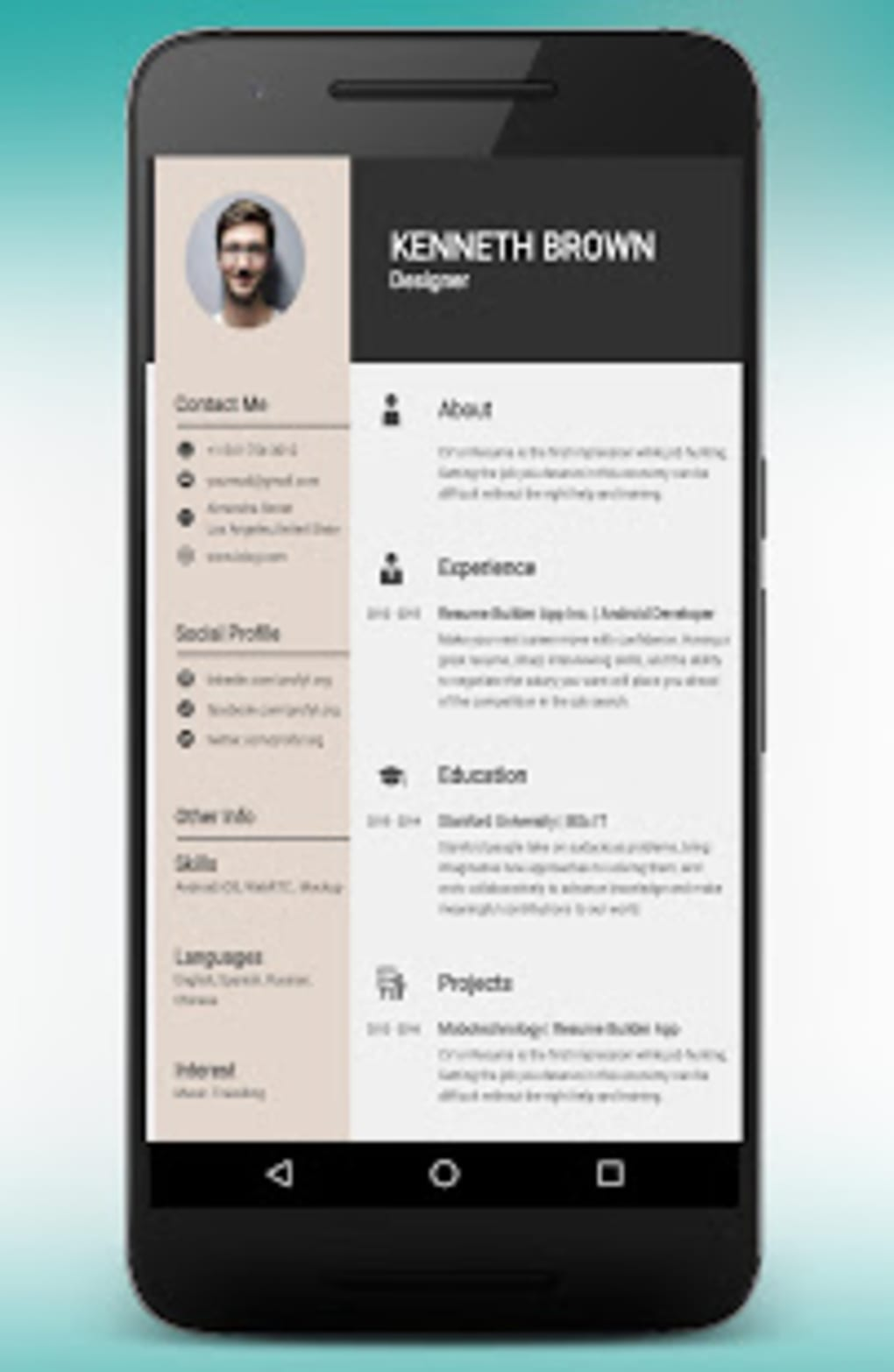 cv maker resume builder pdf template format editor apk for android