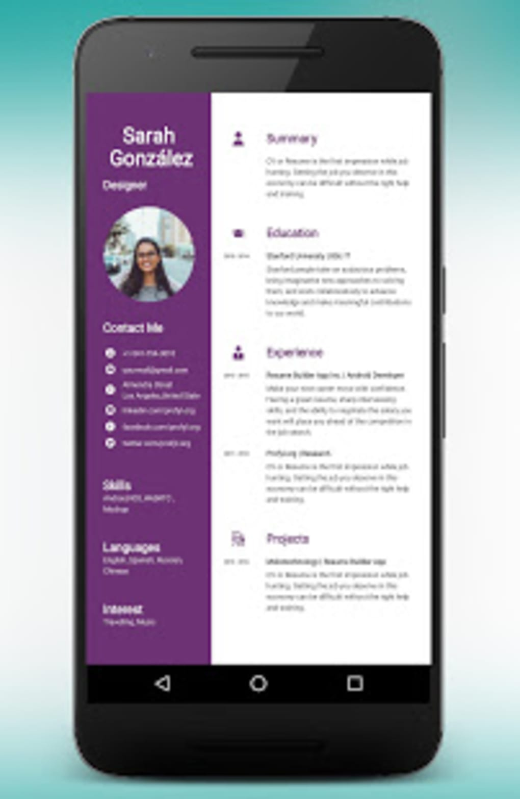 cv maker resume builder pdf template format editor apk for