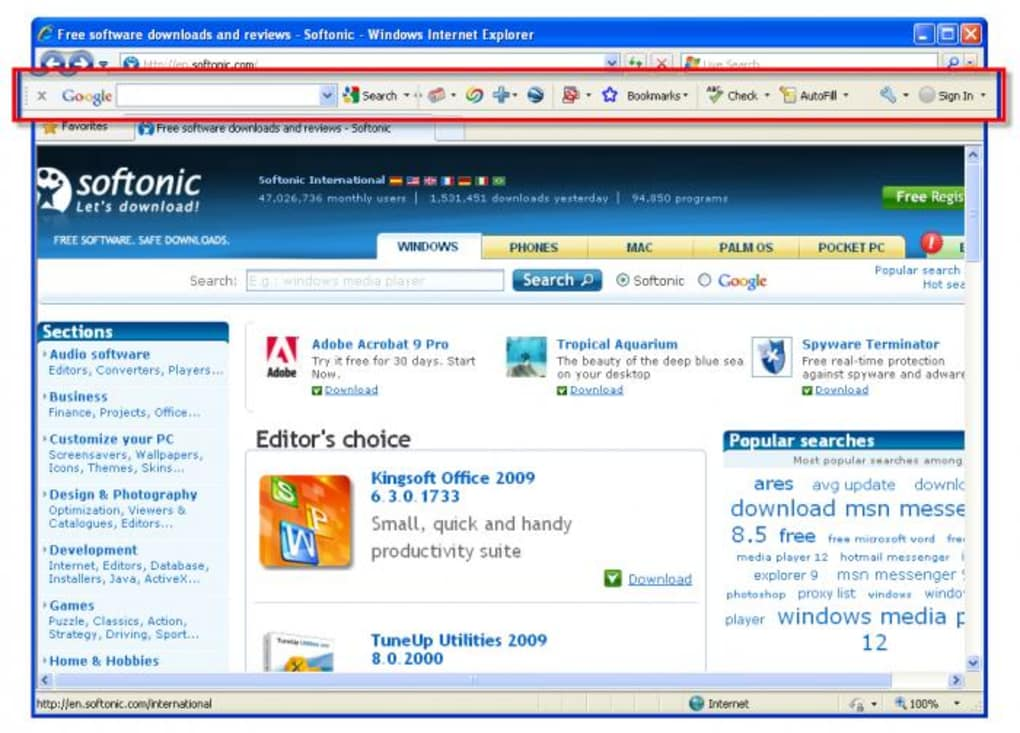 Google toolbar 5 download with advanced features introduced.