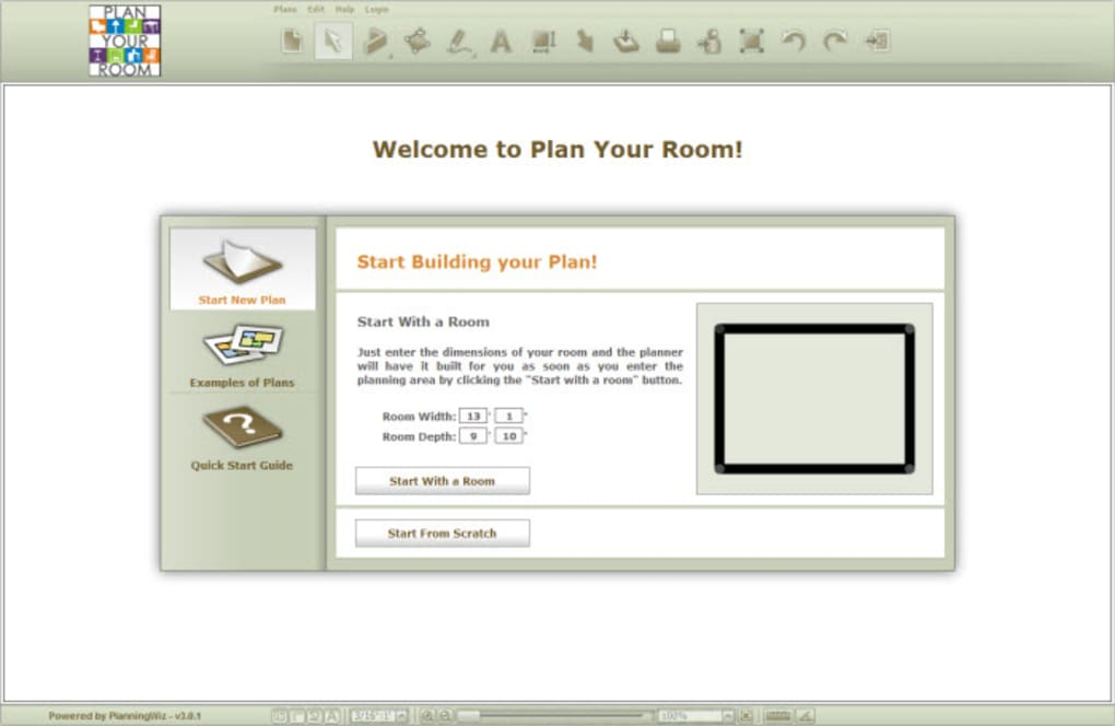 Plan your room online for Room planning website