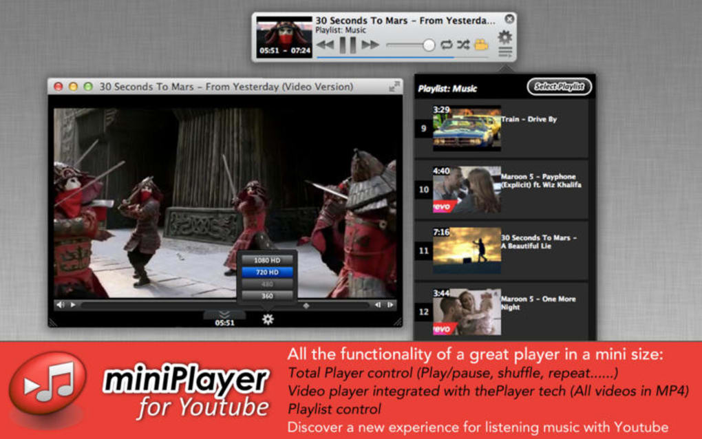 Miniplayer for Youtube for Mac - Download