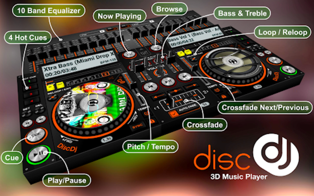 DiscDj 3D Music Player Dj Mixer for Android - Download