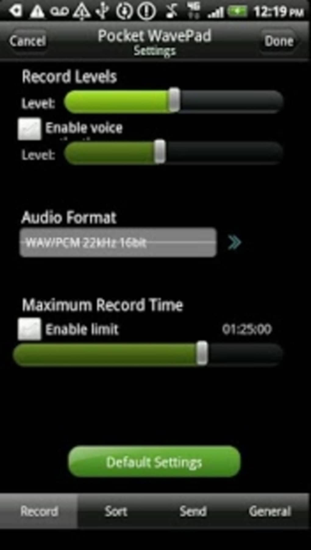 WavePad Free Audio Editing for Android (Android) - Download