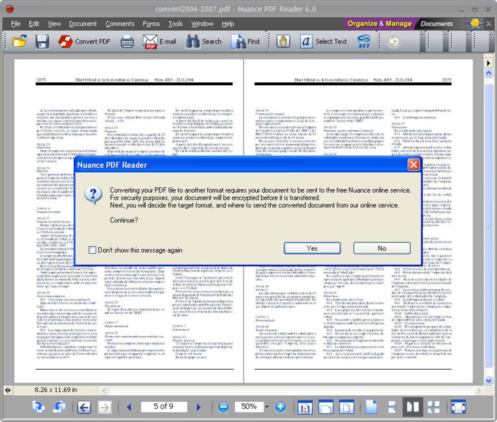 nuance pdf reader italiano