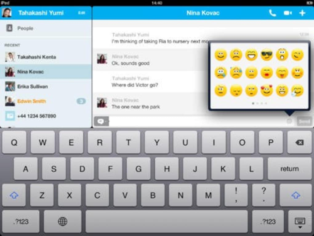 Skype for iPad」をApp Storeで -