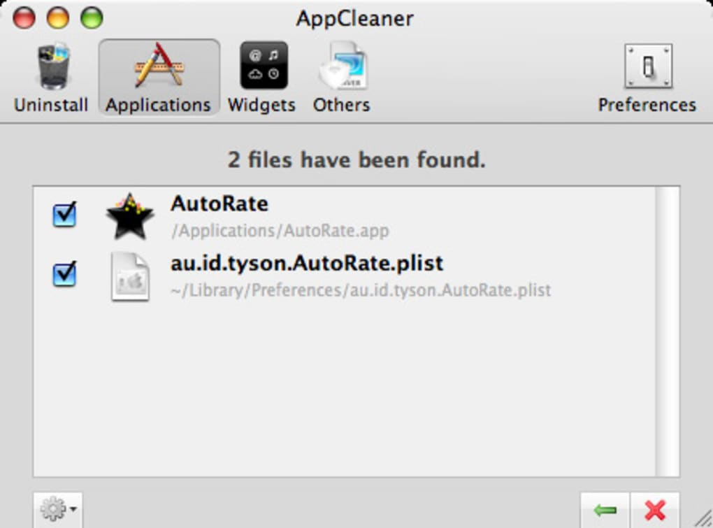 appcleaner mac os x lion
