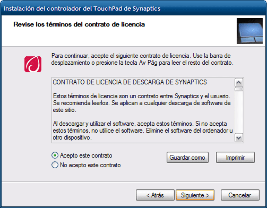 Synaptics Touchpad Driver - Download
