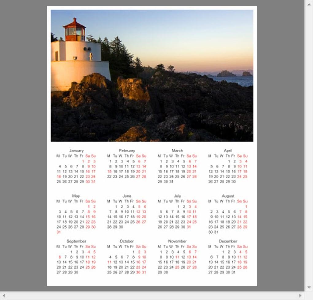 photo calendar maker download