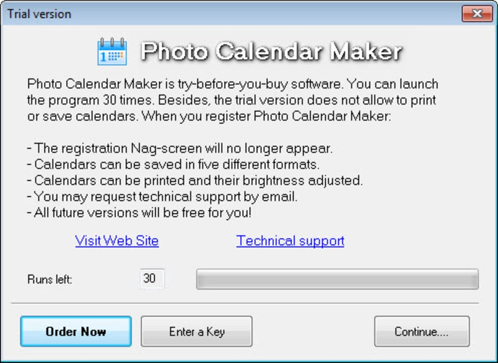 free photo calendar software download full version