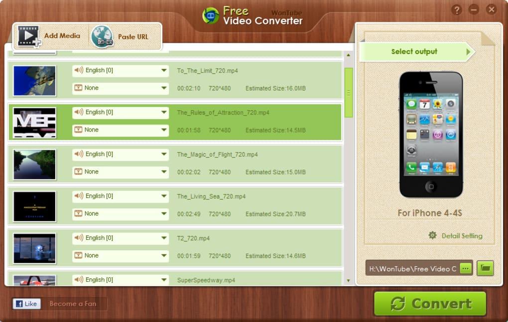 WonTube Free Video Converter - Download