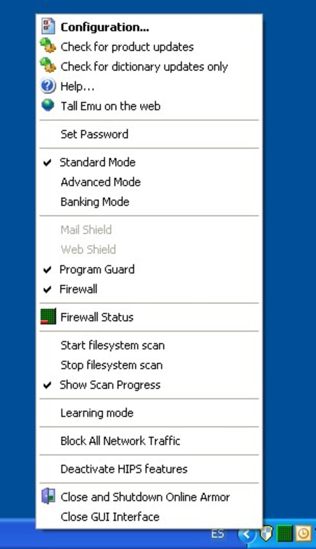 Online armor personal firewall free freeware en download.