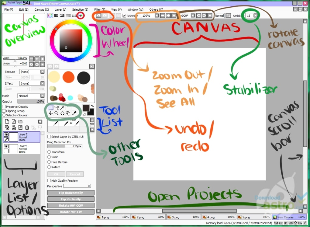 sai paint software