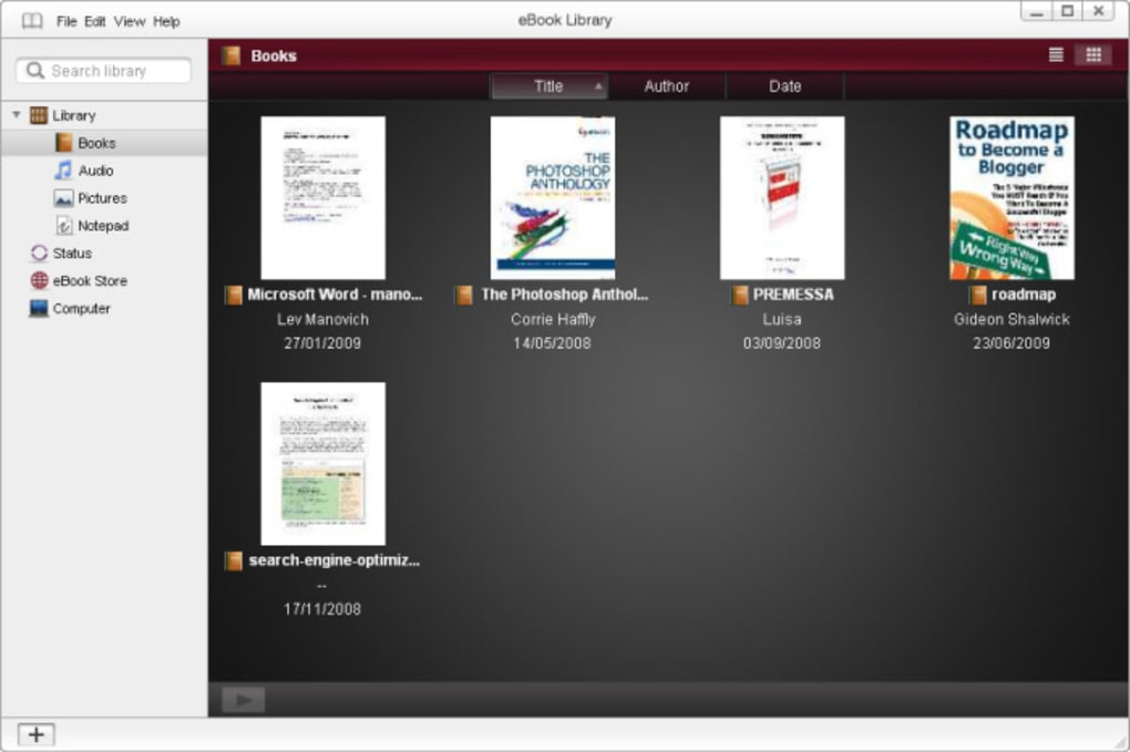 EBOOK LIBRARY SOFTWARE SONY DOWNLOAD