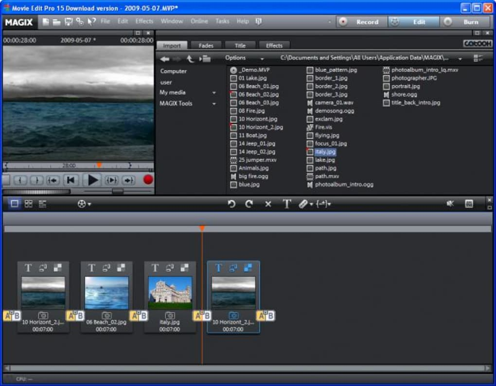 magix movie edit free download crack