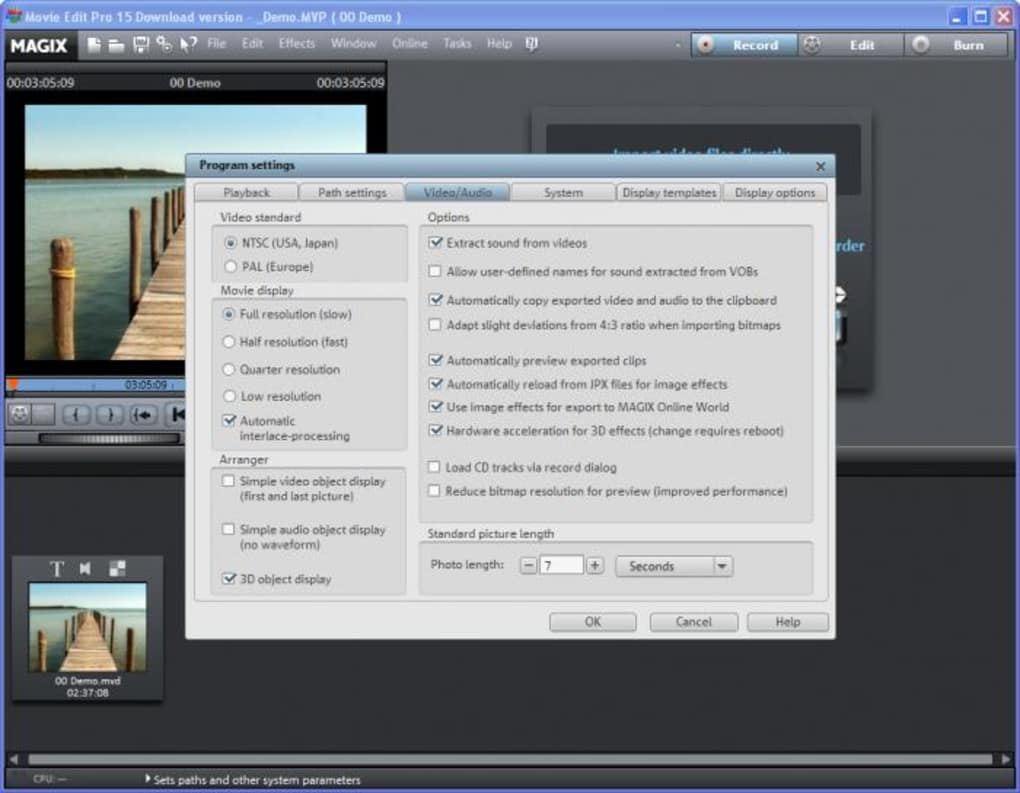magix movie edit pro free download for mac