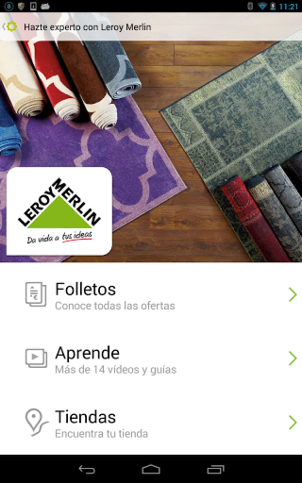 Folletos e ideas leroy merlin para android descargar for Leroy merlin sedie e tavoli