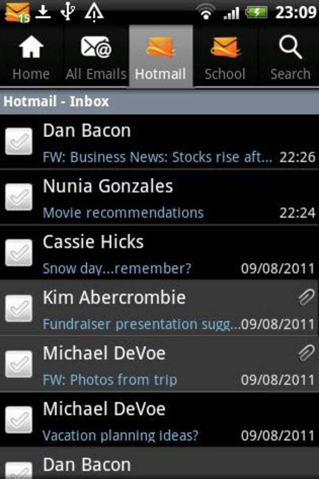Hotmail for Android - Download