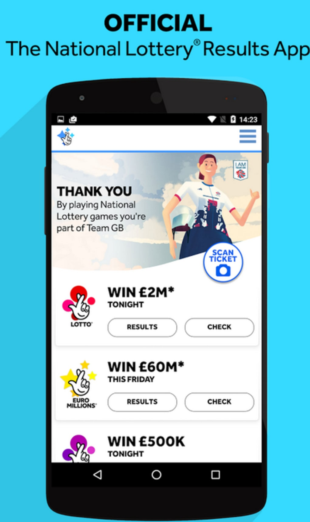 The National Lottery Results for Android - Download
