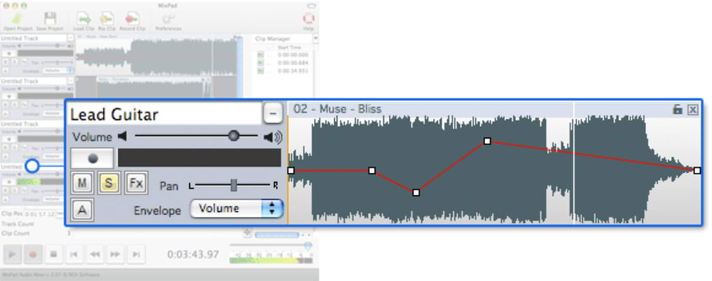MixPad Free Music Mixer for Mac (Mac) - Download