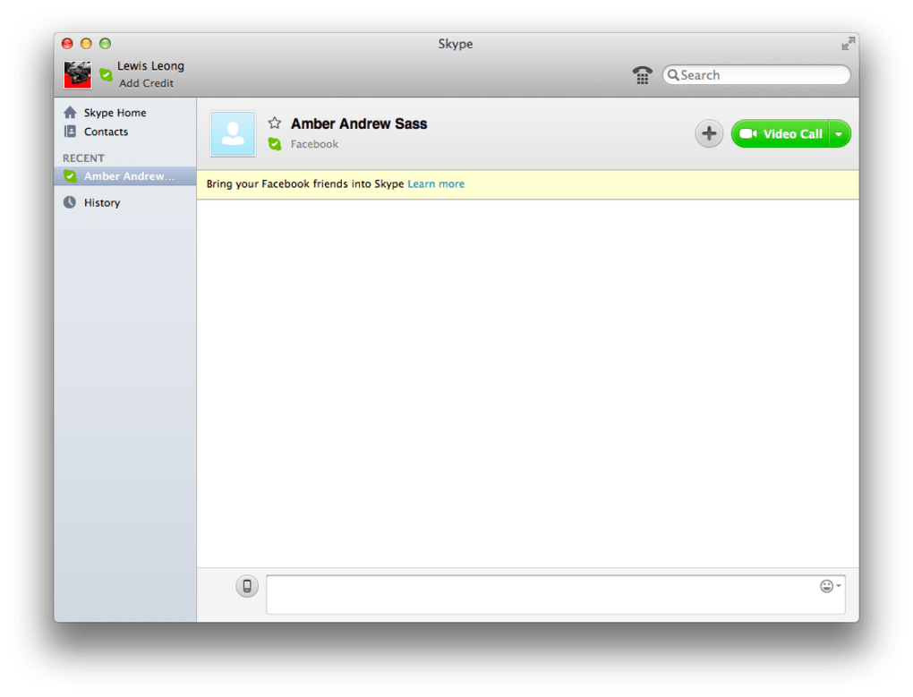 skype pour mac version 10.7.5