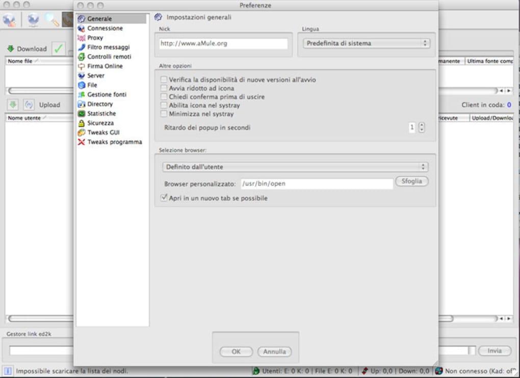 configurazione porte emule adunanza 3.18
