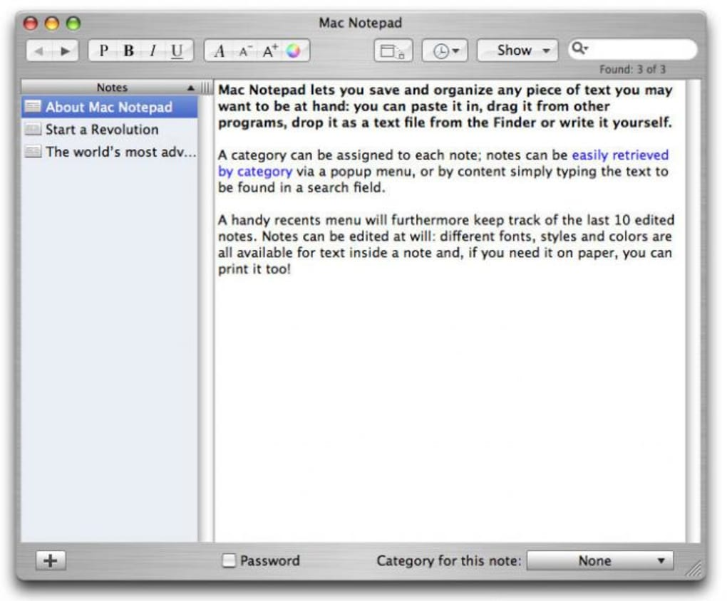 Mac Notepad (Mac) - Download