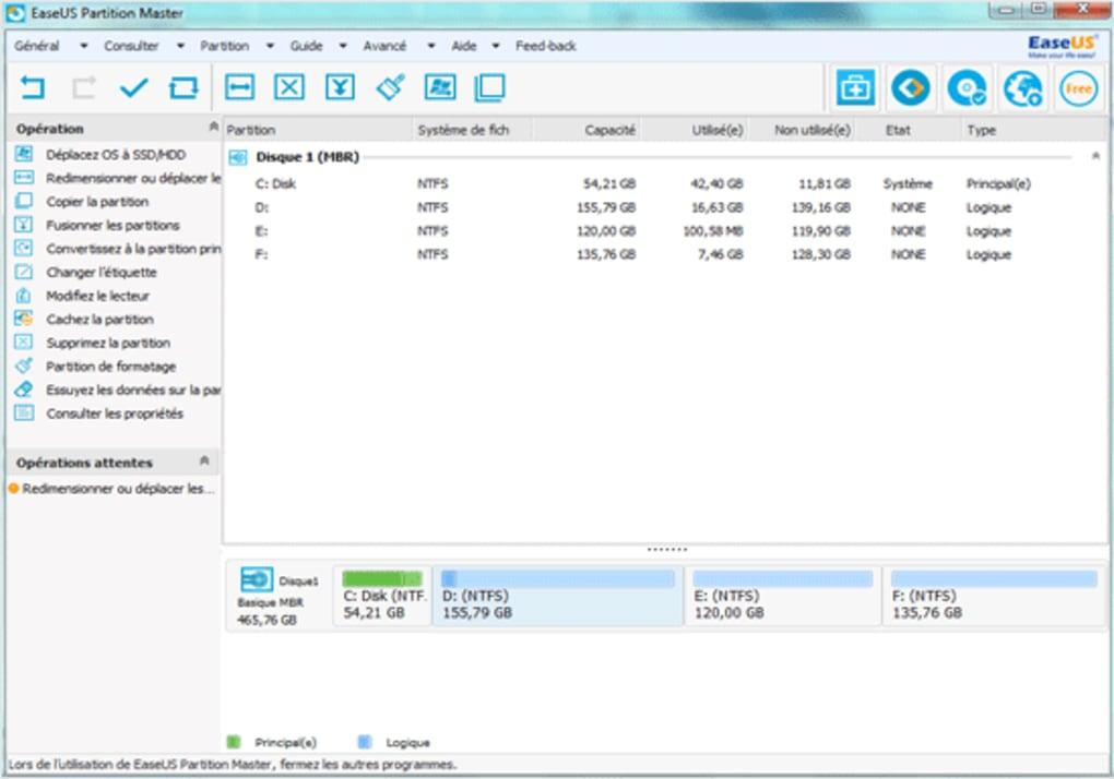 comment utiliser easeus partition master free