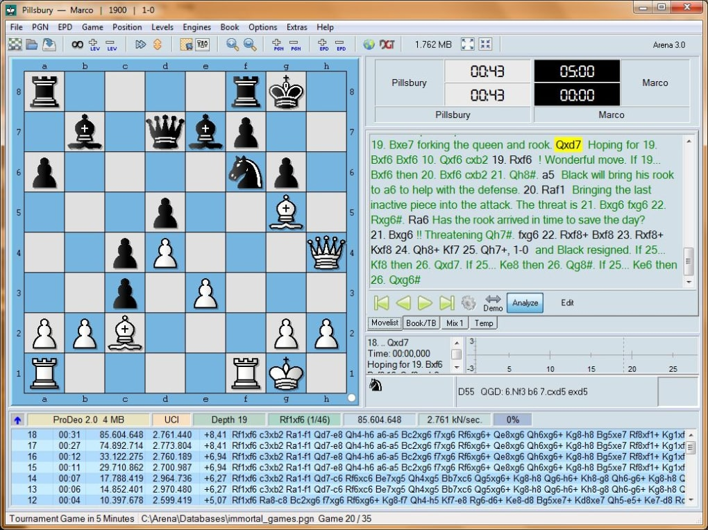 Arena chess with REBEL and ProDeo - Download
