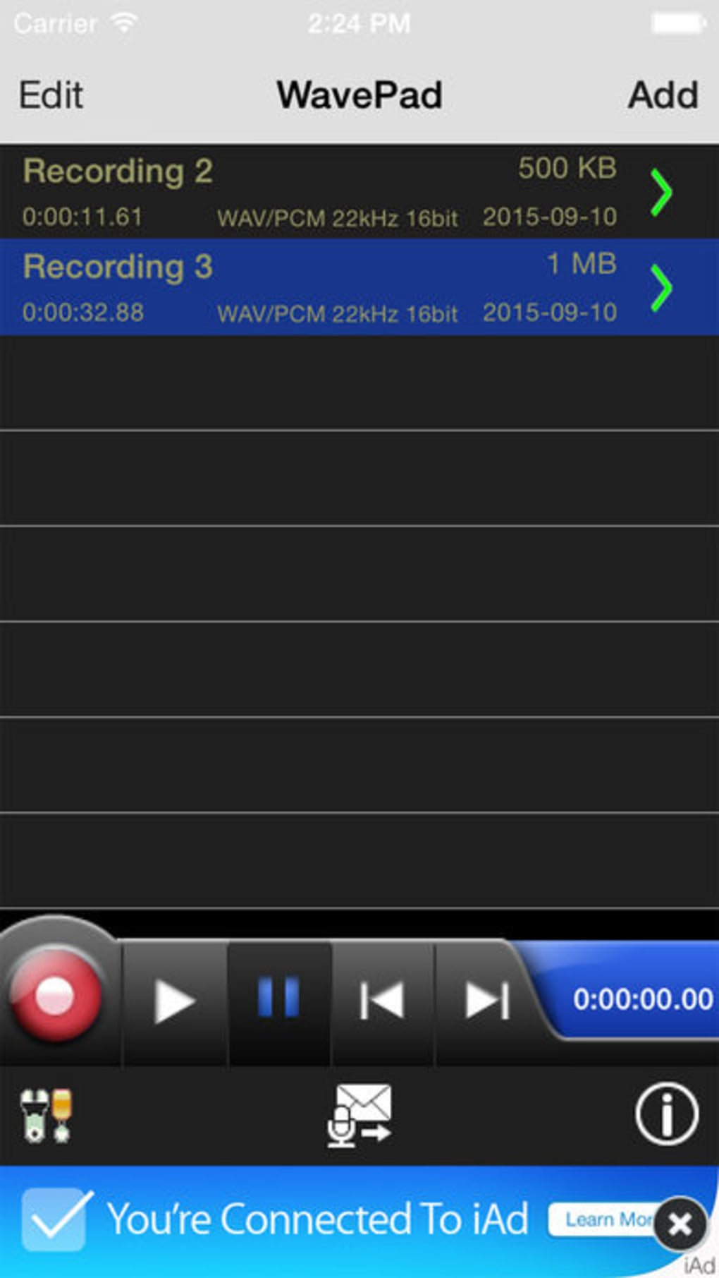 WavePad Music and Audio Editor for iPhone - Download