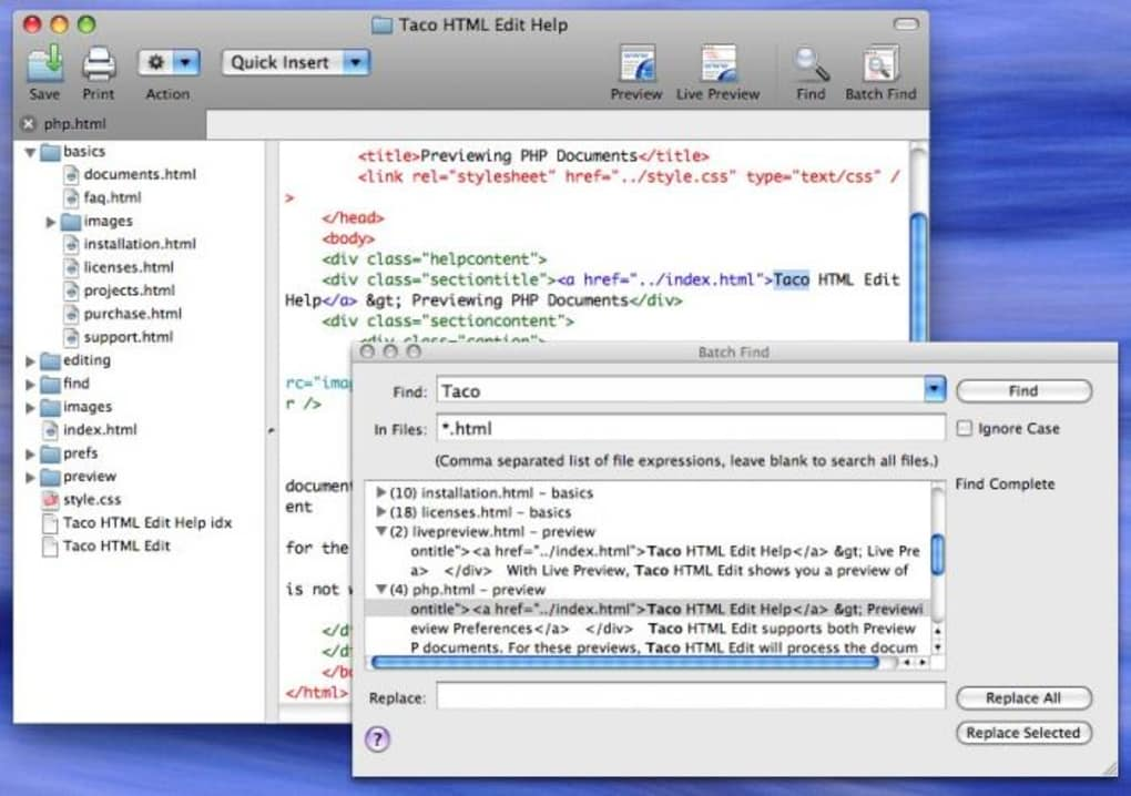 Automatically uninstall Taco HTML Edit with MacRemover (recommended):
