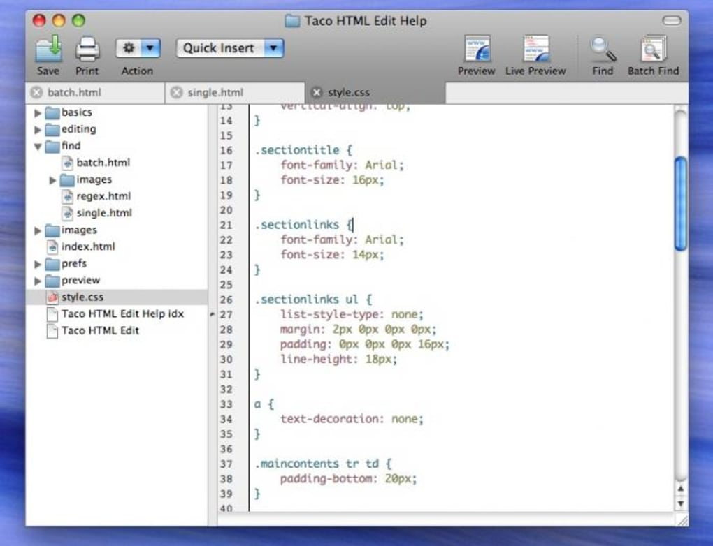 html software mac