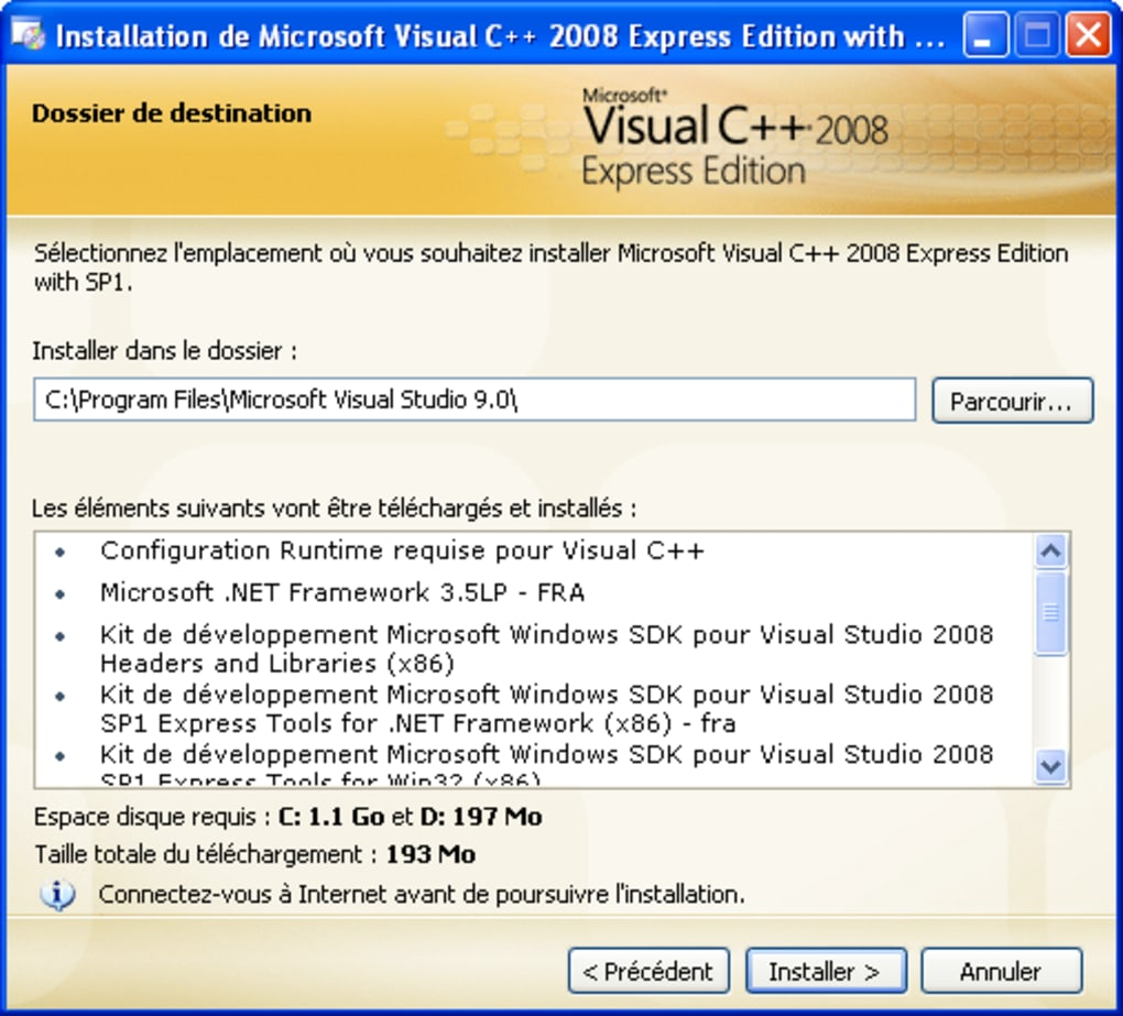 2008 GRATUIT C MICROSOFT PACKAGE (X86 REDISTRIBUTABLE VISUAL TÉLÉCHARGER