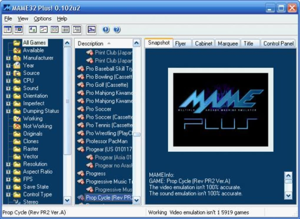 Mame32 plus software informer. Mame plus plus is an emulator.
