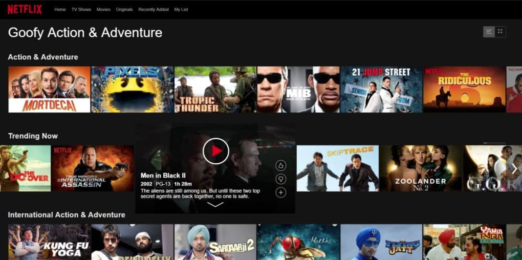 Netflix application pc