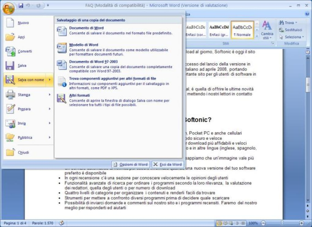 download office 2007 ita gratis