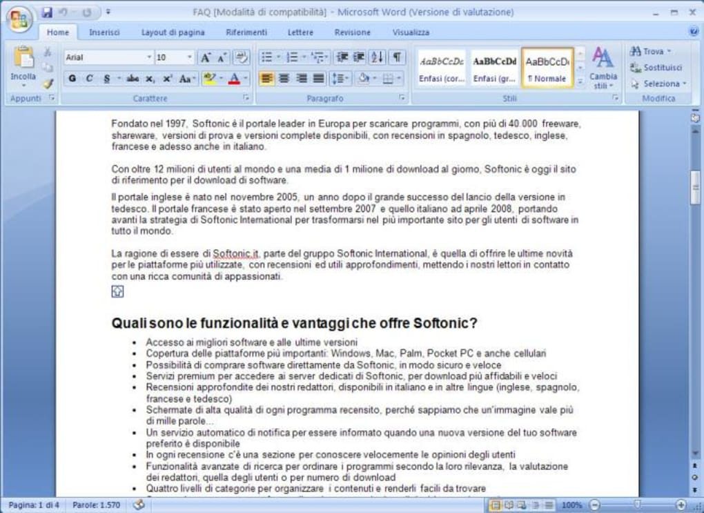 microsoft office 2007 free download for windows 10 softonic