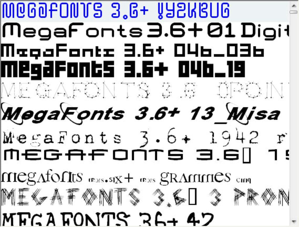 MEGAFONTS 3.6 TÉLÉCHARGER